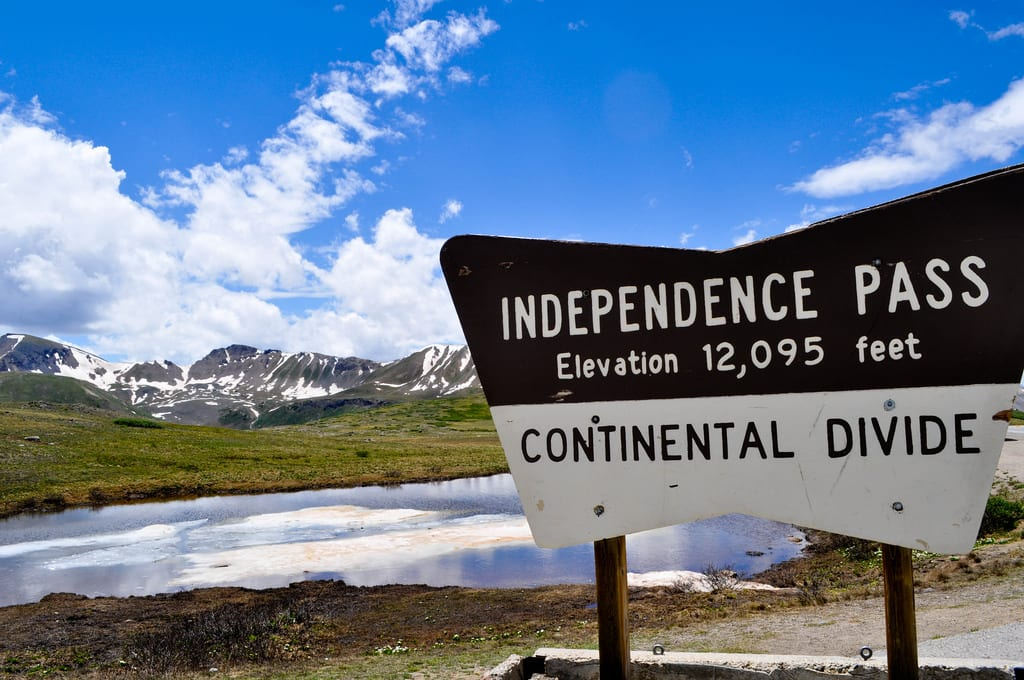 image of Independence Pass in July