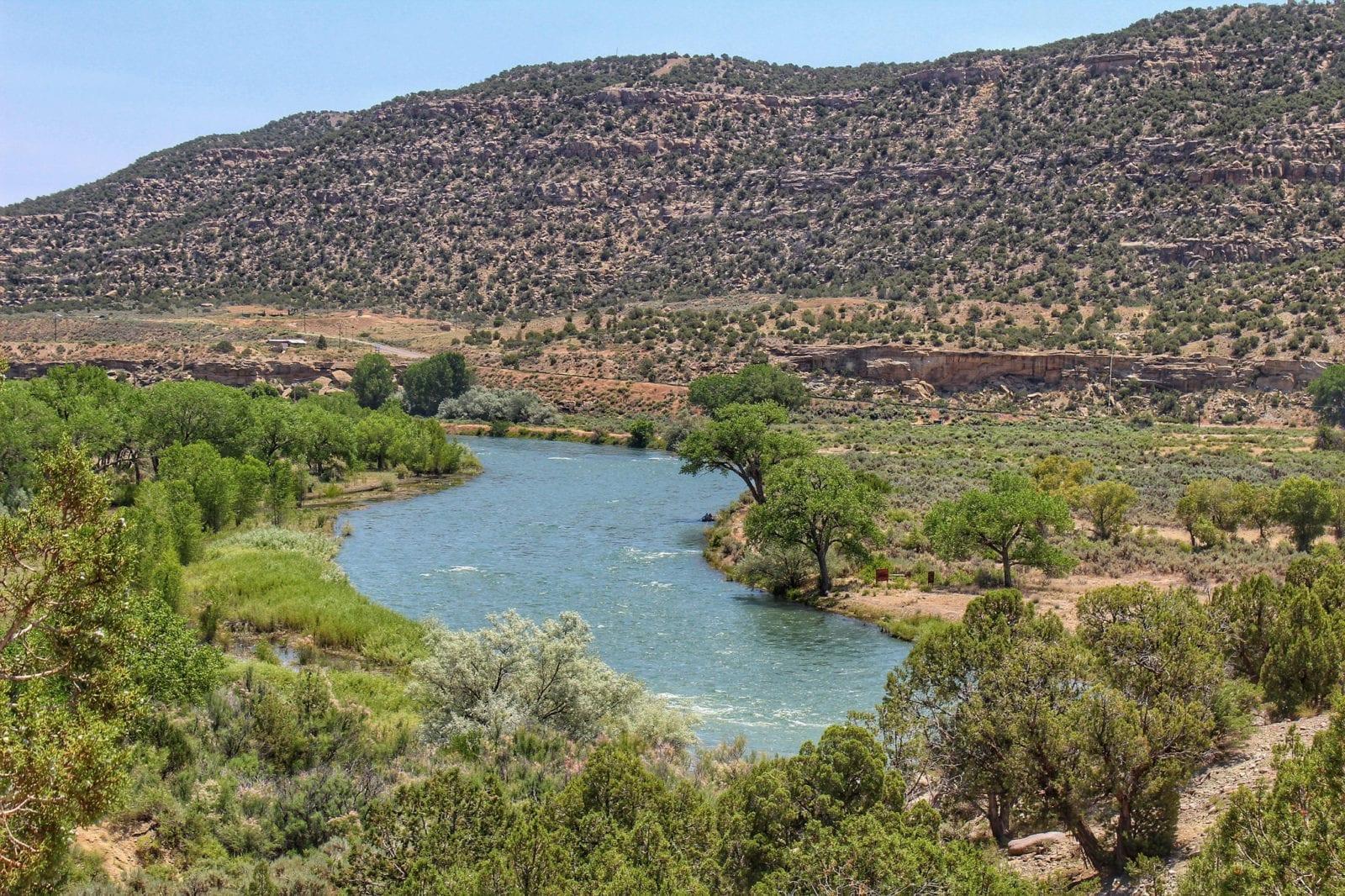 image of San Juan river at Navajo State Park