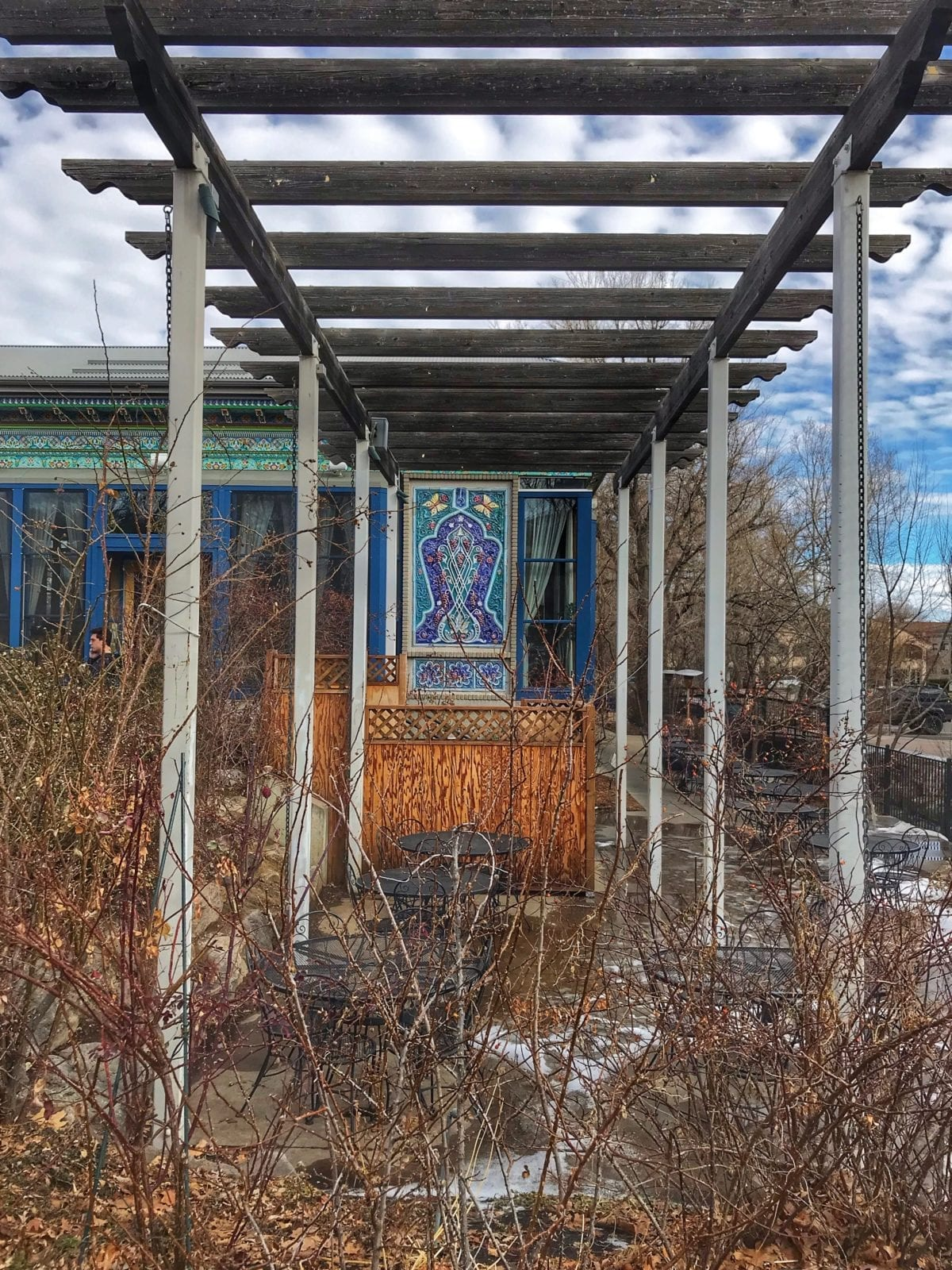 image of outdoor dining patio at Boulder Dushanbe Teahouse