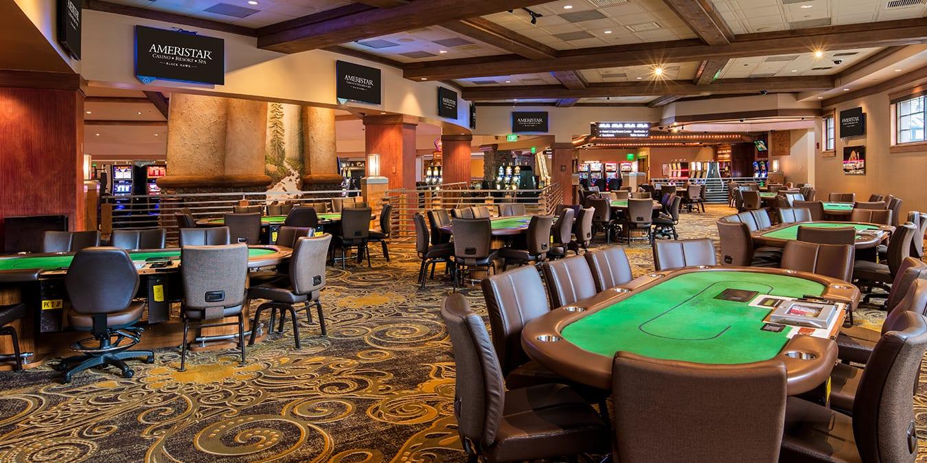Poker room at the Ameristar Casino Black Hawk