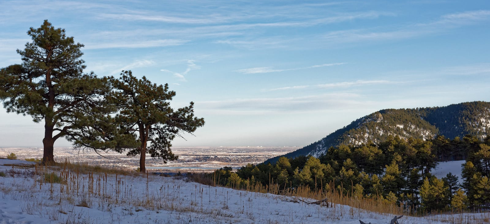 Betasso Preserve Snowshoeing Trail Colorado