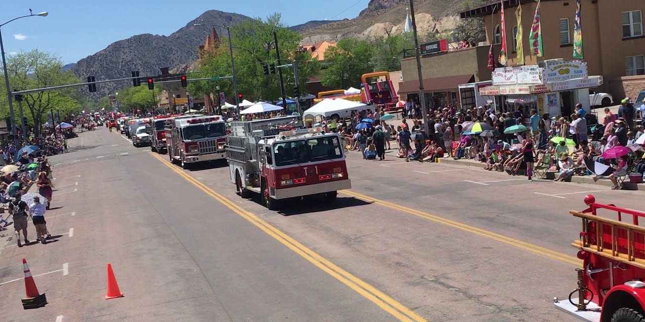 Canon City Music and Blossom Festival Parade Fire Trucks