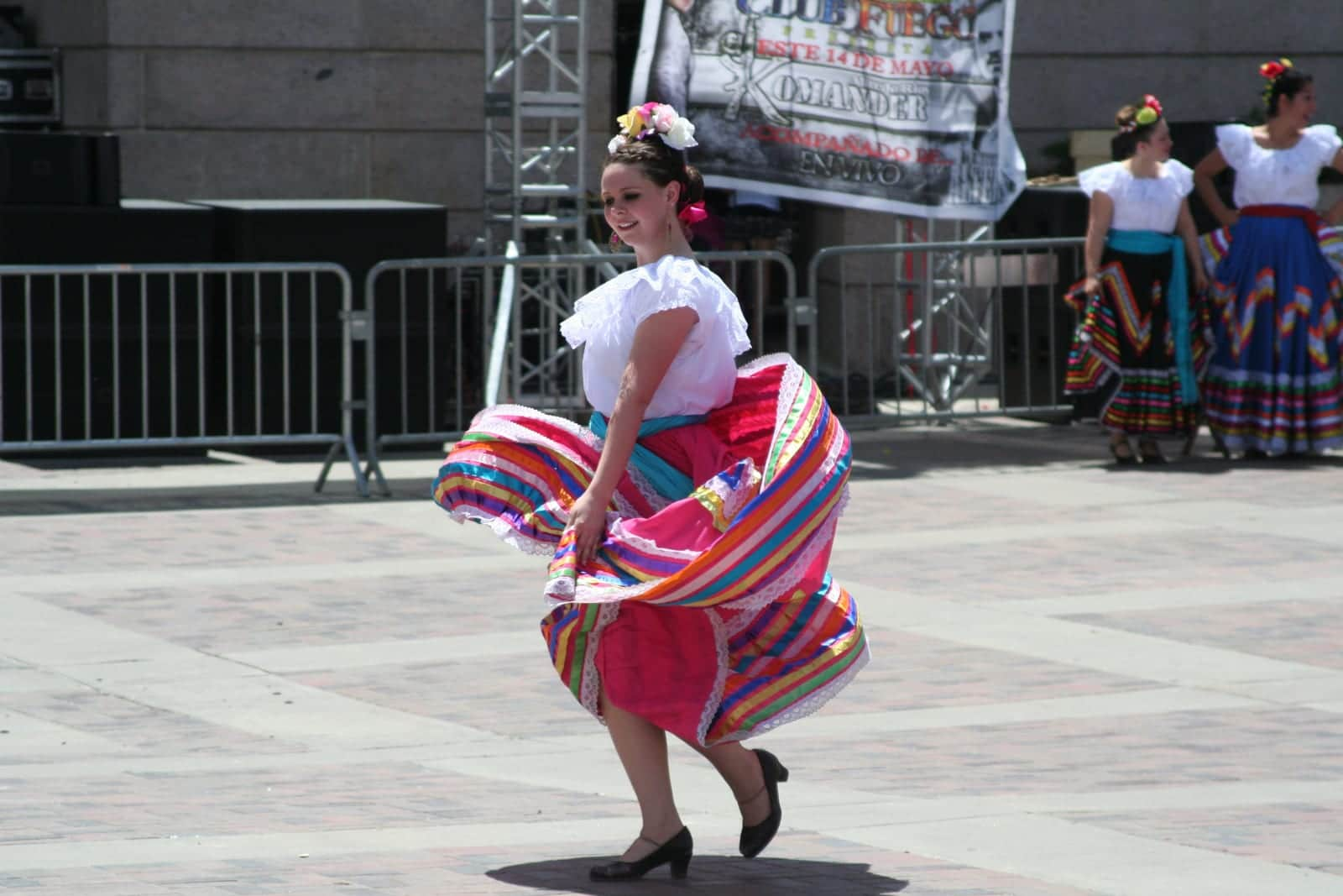 Cindo de Mayo Festival Parade Woman Dancer