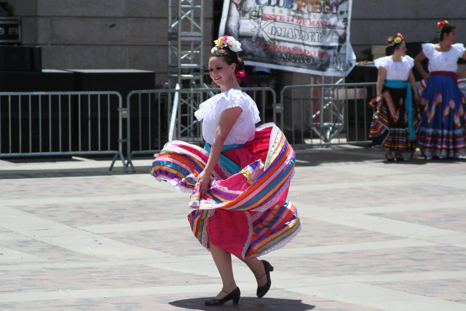 Cindo de Mayo Festival Parade Woman Dancer
