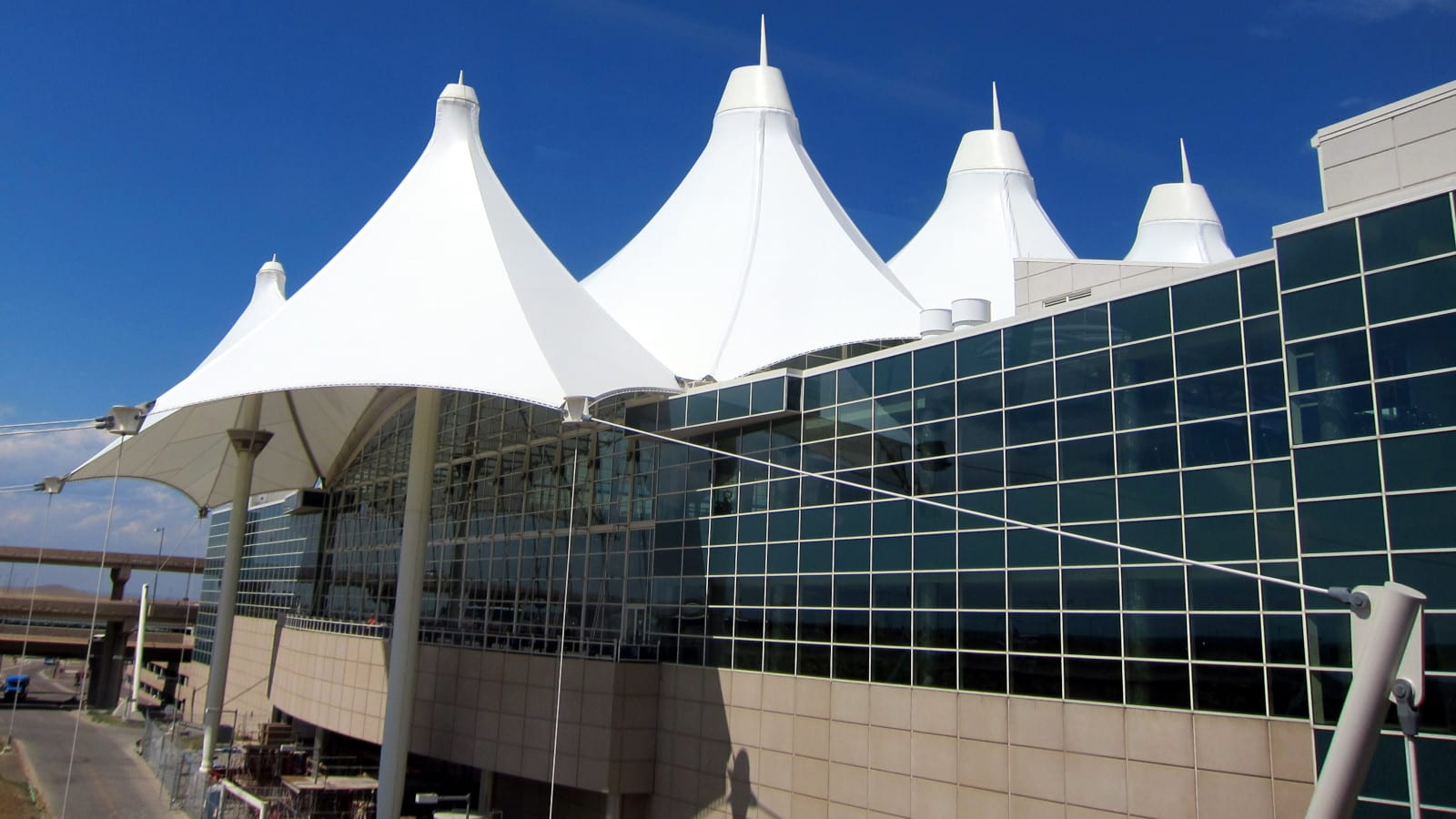 Colorado Without Car Denver International Airport Mountain Top Roof
