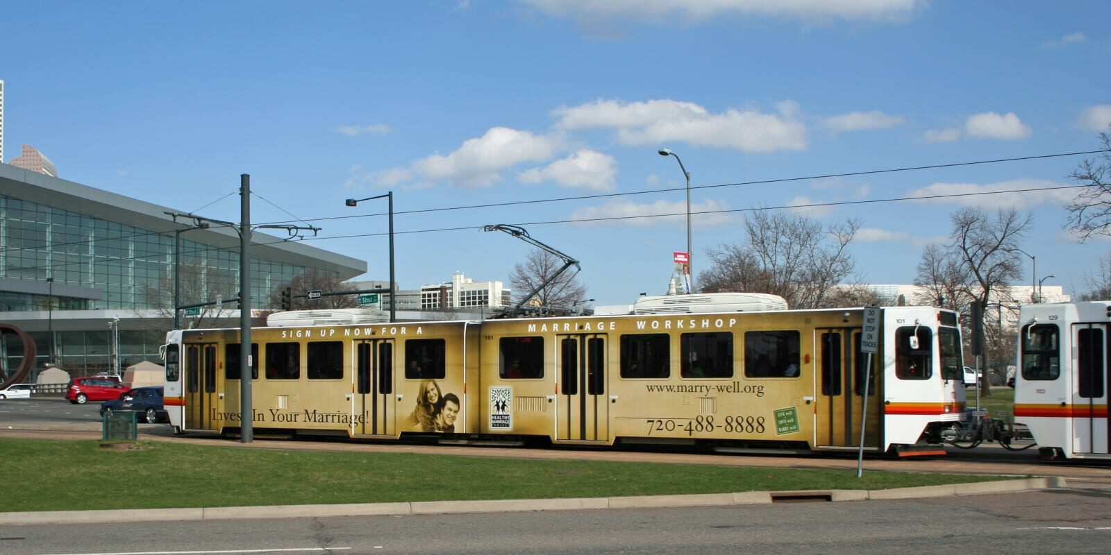 Colorado Without Car Denver RTD Light Rail Train Convention Center