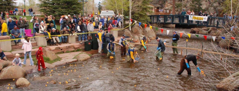 Estes Park Duck Race Finish Line