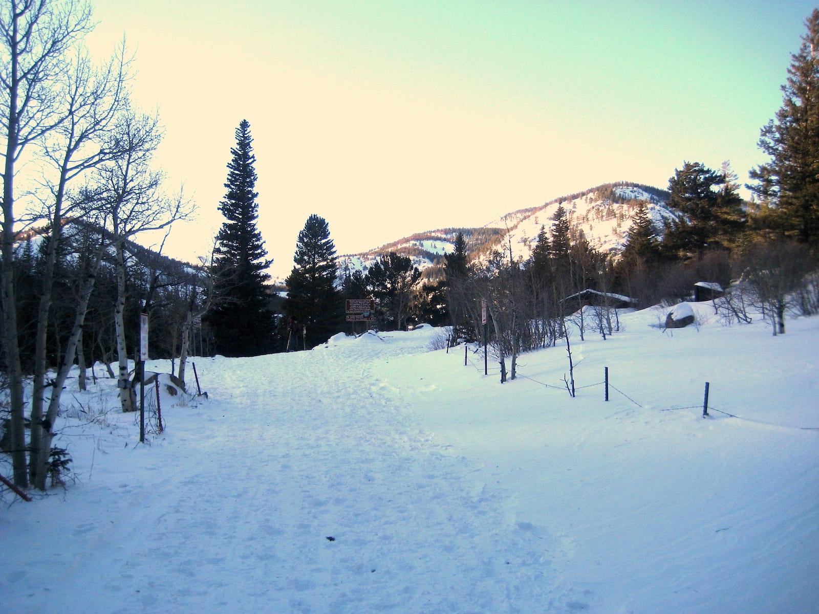 Hessie Trailhead Snowshoeing Trail Colorado