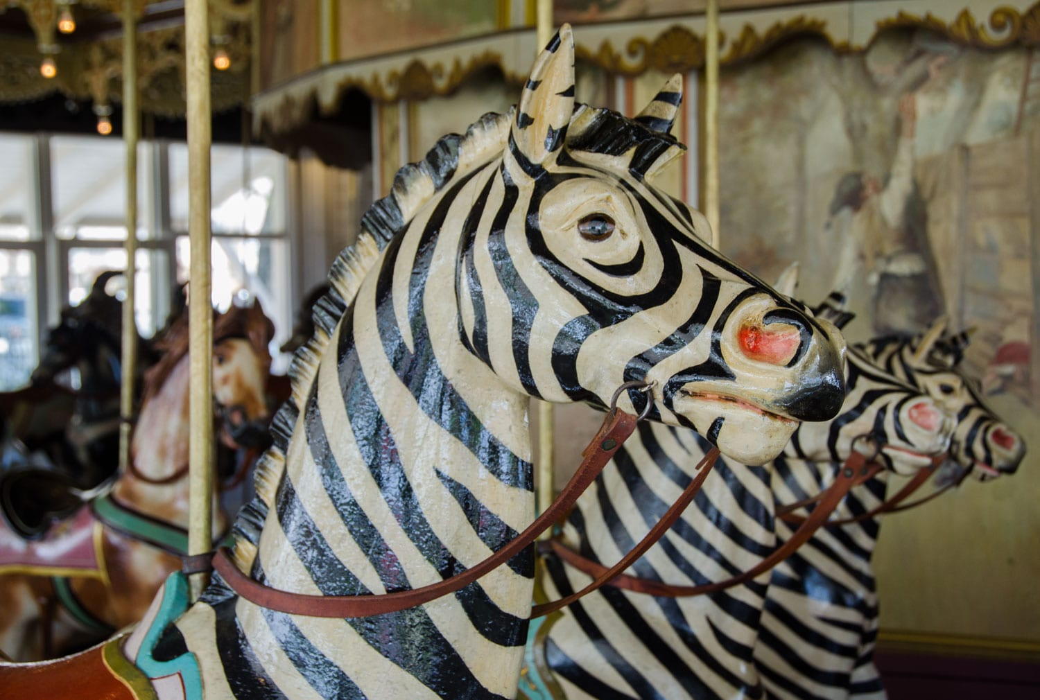 Kit Carson County Carousel Burlington CO Zebras