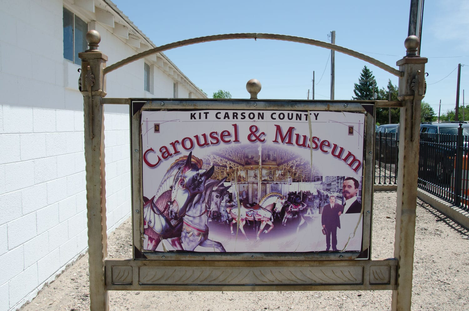 Kit Carson County Carousel Burlington CO Sign