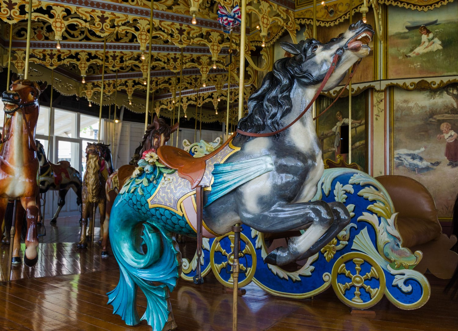 Kit Carson County Carousel Burlington CO Horse Mermaid