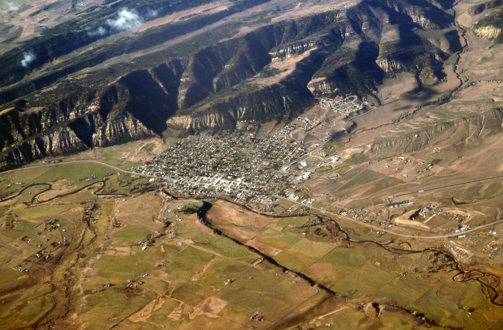 Meeker Colorado Aerial View
