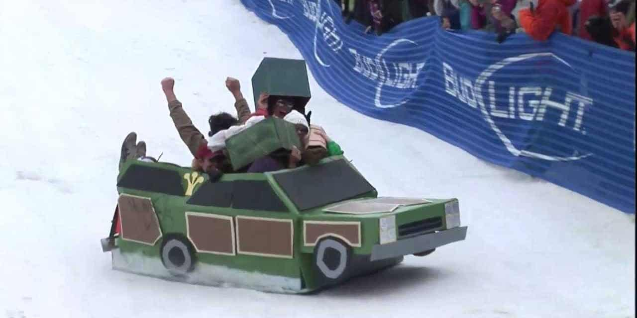Steamboat Cardboard Classic Station Wagon Sled