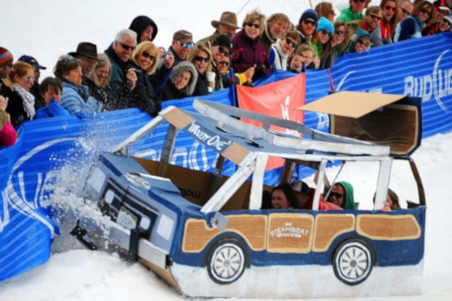 Steamboat Cardboard Classic Sledding Race Ski Resort
