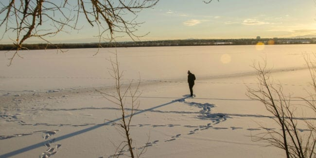 Winter Seasonal Affective Disorder Cherry Creek Lake Hiker