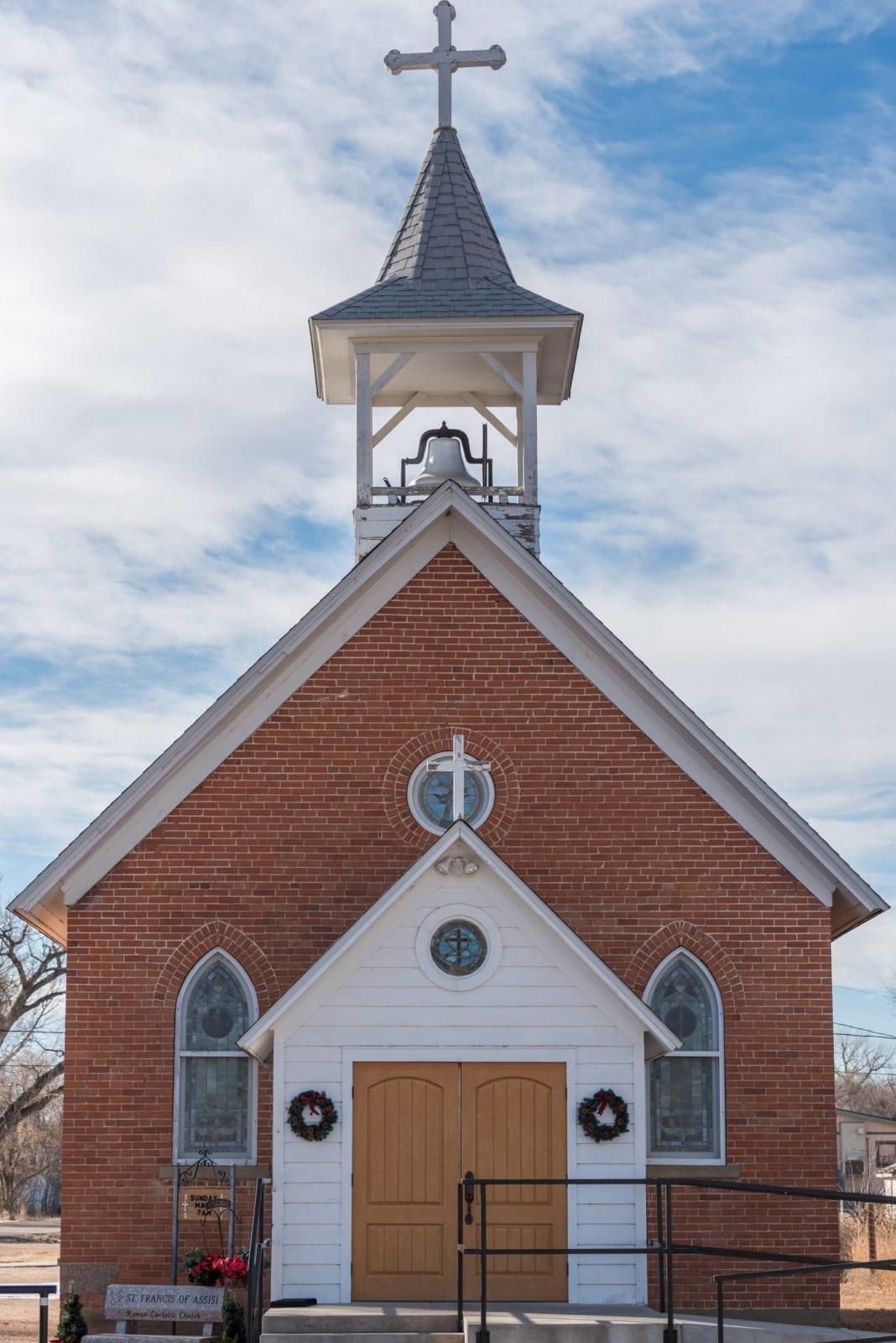 image of church in Weldona, CO