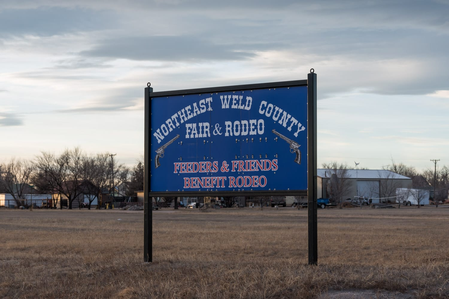image of Weld County Fair sign in New Raymer, CO