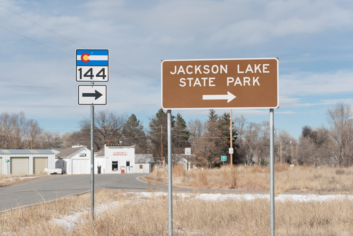 image of sign for Jackson Lake State park