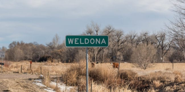 image of sign in Weldona, CO