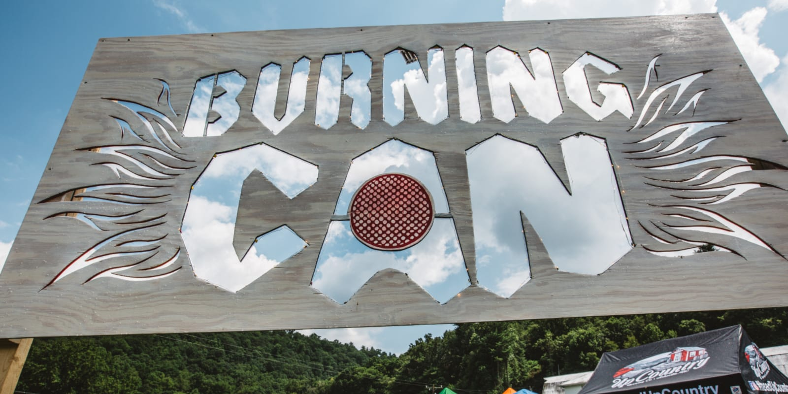 Burning Can Festival Lyons CO Sign
