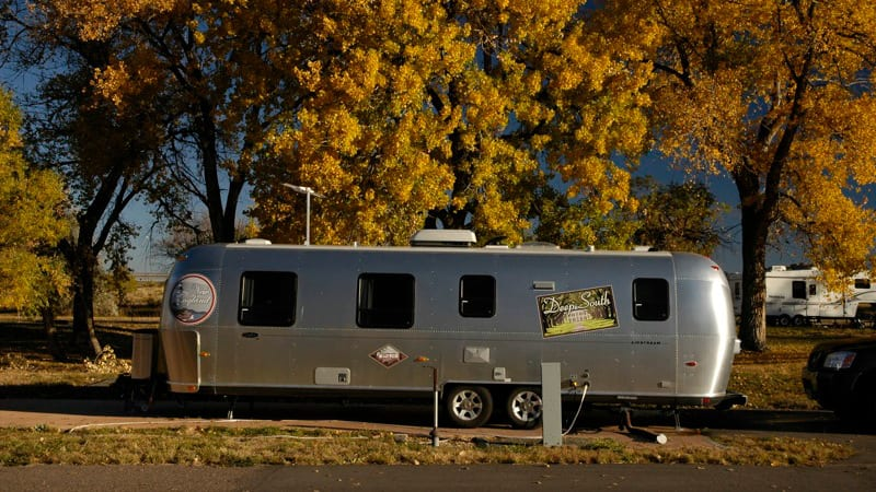 Cherry Creek State Park Aurora CO Campground Travel Trailer Fall Colors