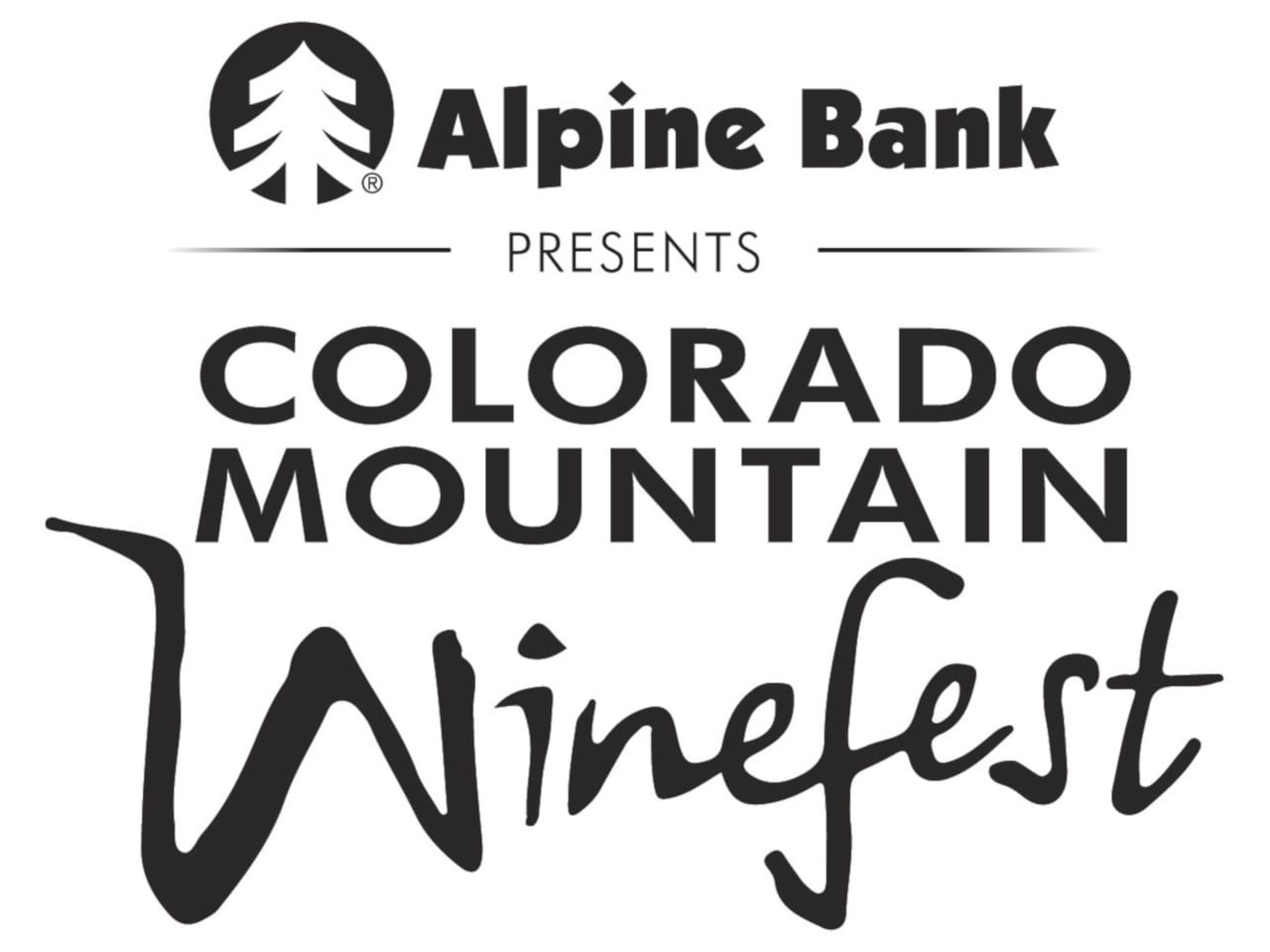 Colorado Mountain Winefest Logo Alpine Bank Palisade