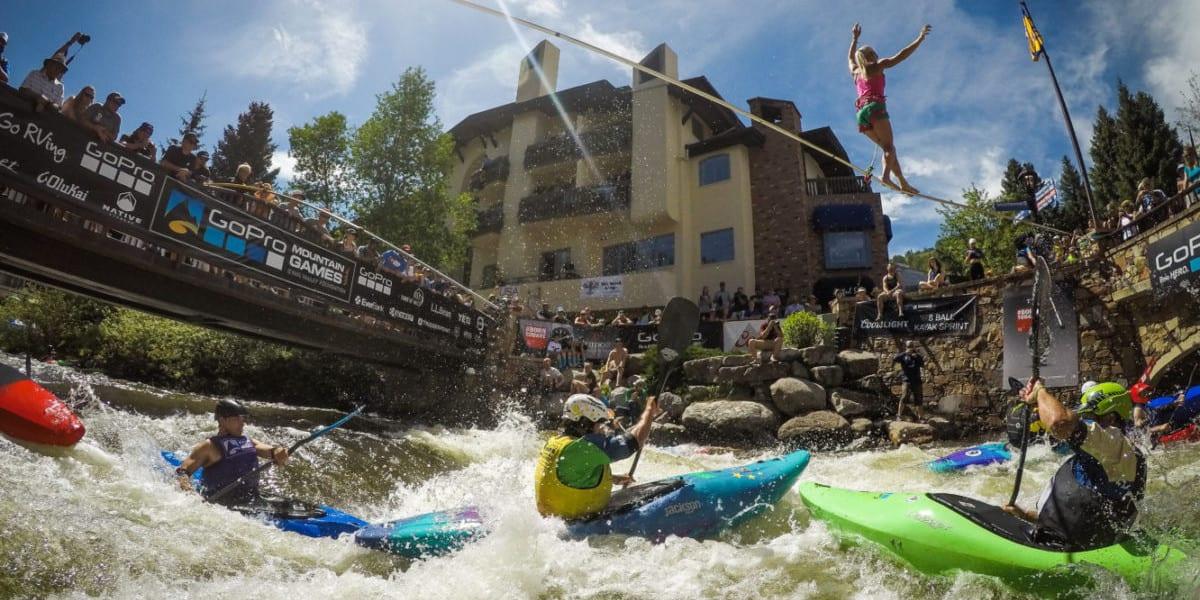 GoPro Mountain Games Vail CO Kayaking Tightrope Walking