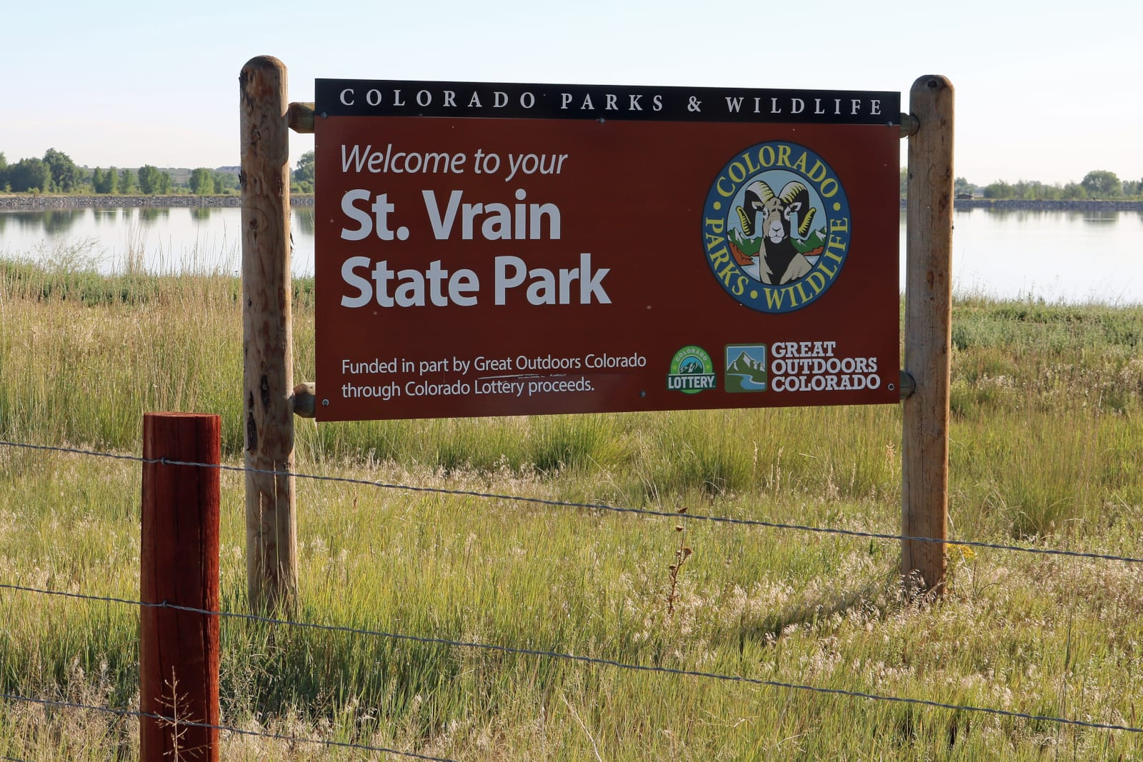 St Vrain State Park Firestone CO Welcome Sign