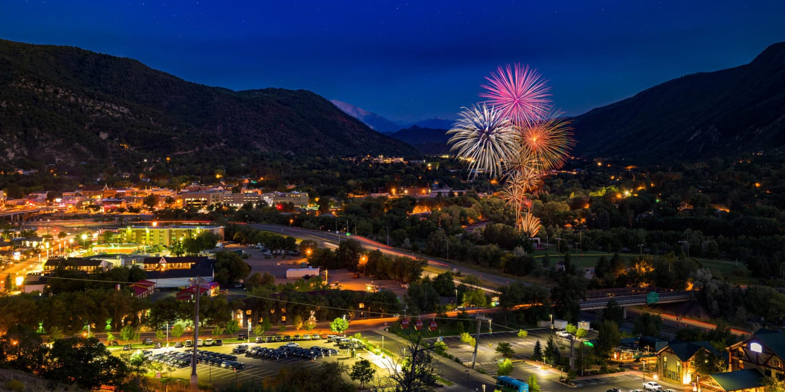 Strawberry Days Festival Fireworks Glenwood Springs CO