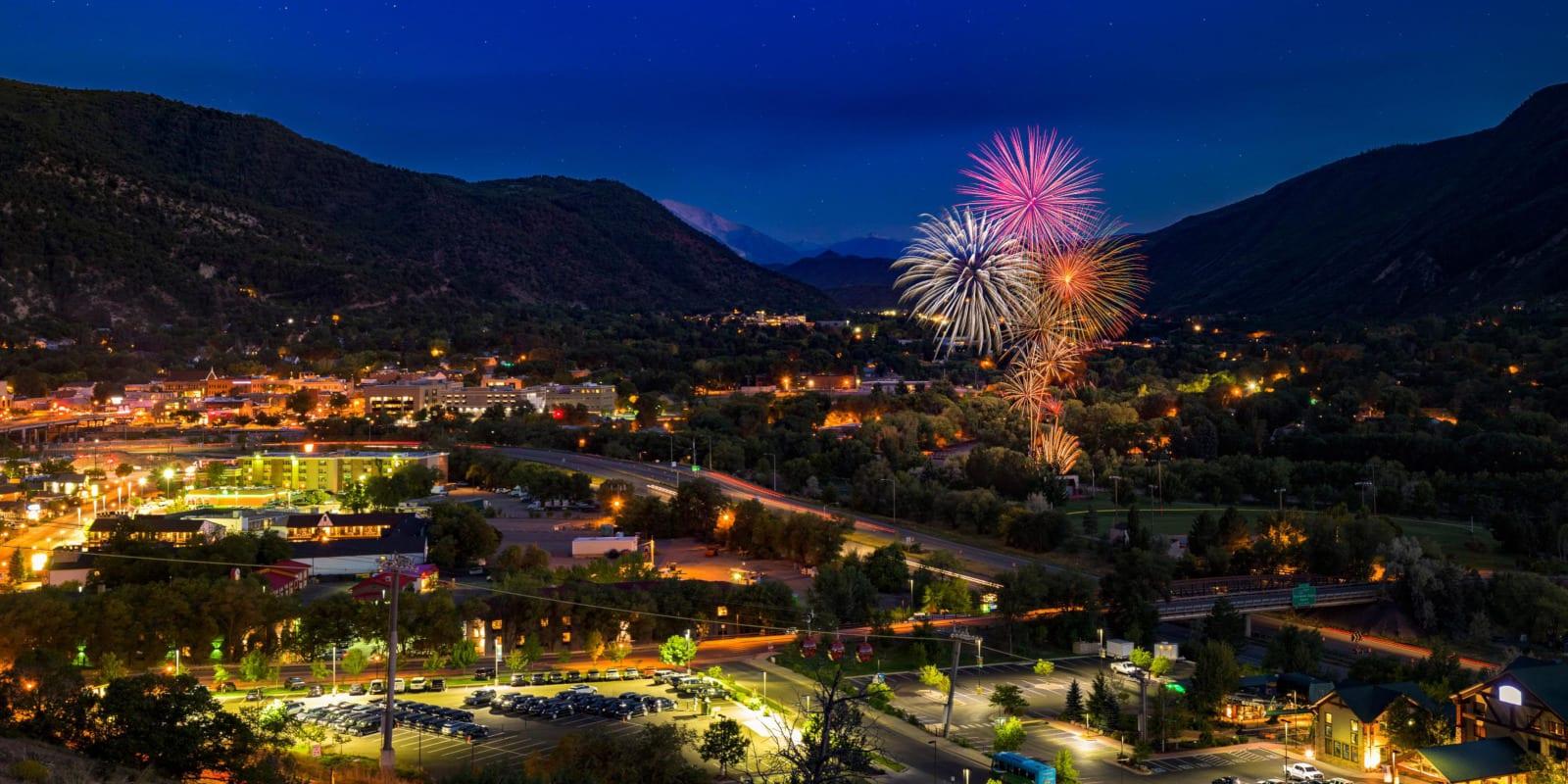 Strawberry Days Festival Fireworks Glenwood Springs CO
