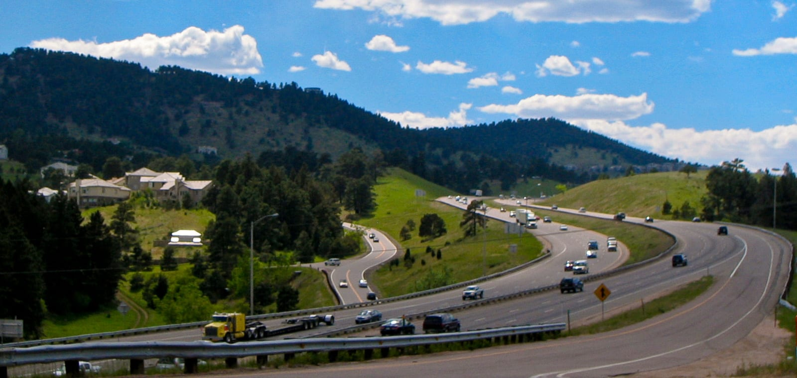 Colorado I-70 Rocky Mountains Rest Stop