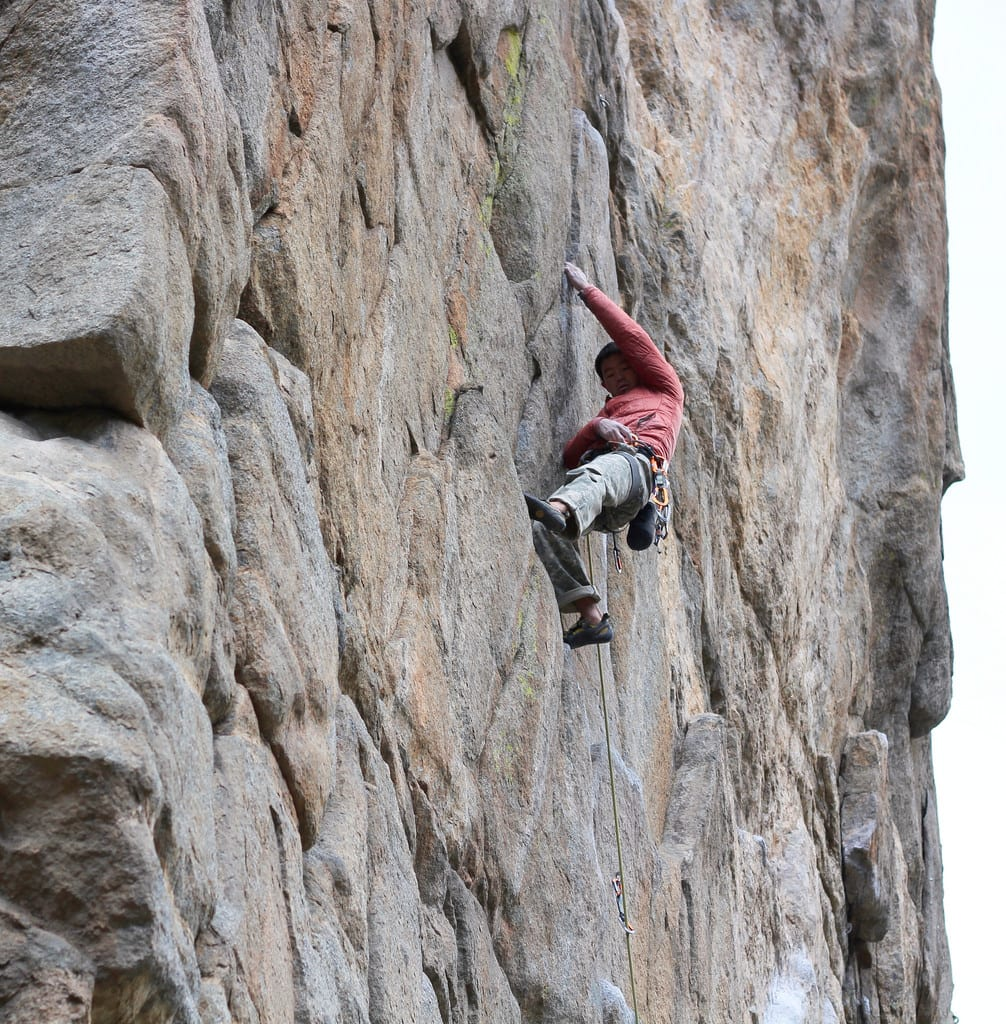 image of rock climbing in Boulder Canyon