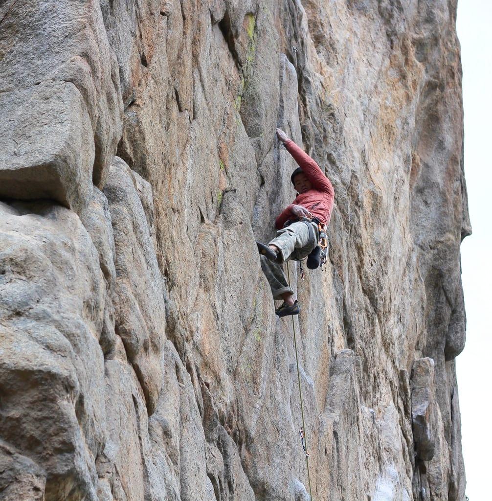 image of rock climbing in Boulder Canyon