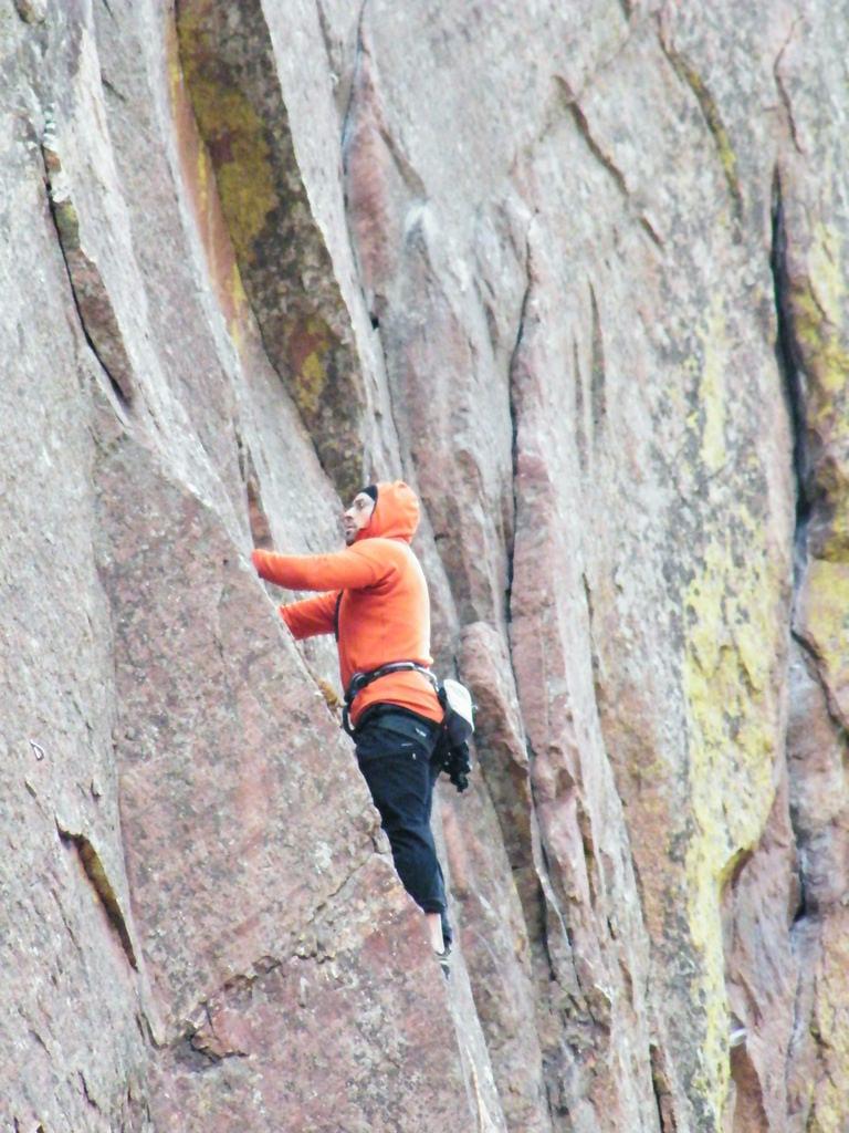 image of rock climbing in Eldorado State Park