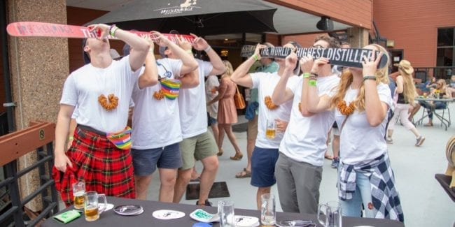 Breckenridge Summer Beer Festival Shot Ski