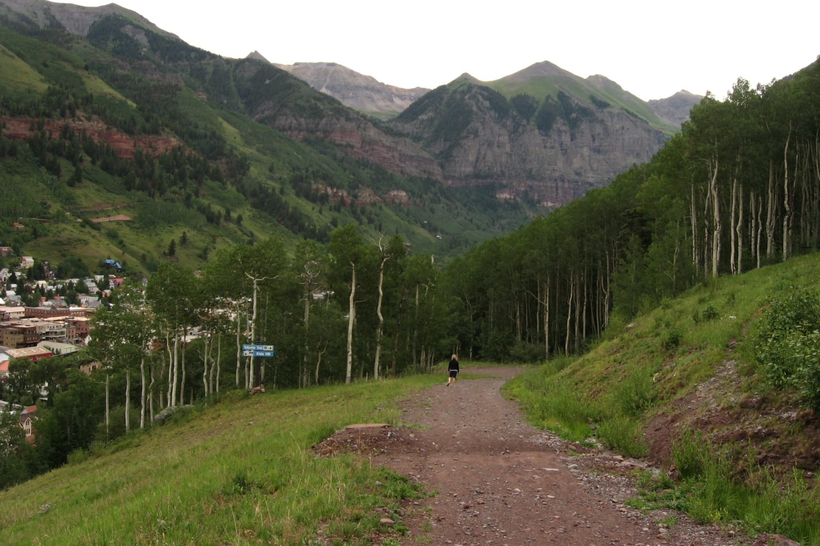Hiking Telluride CO Gondola Hiking Trail Summer Ski Resort