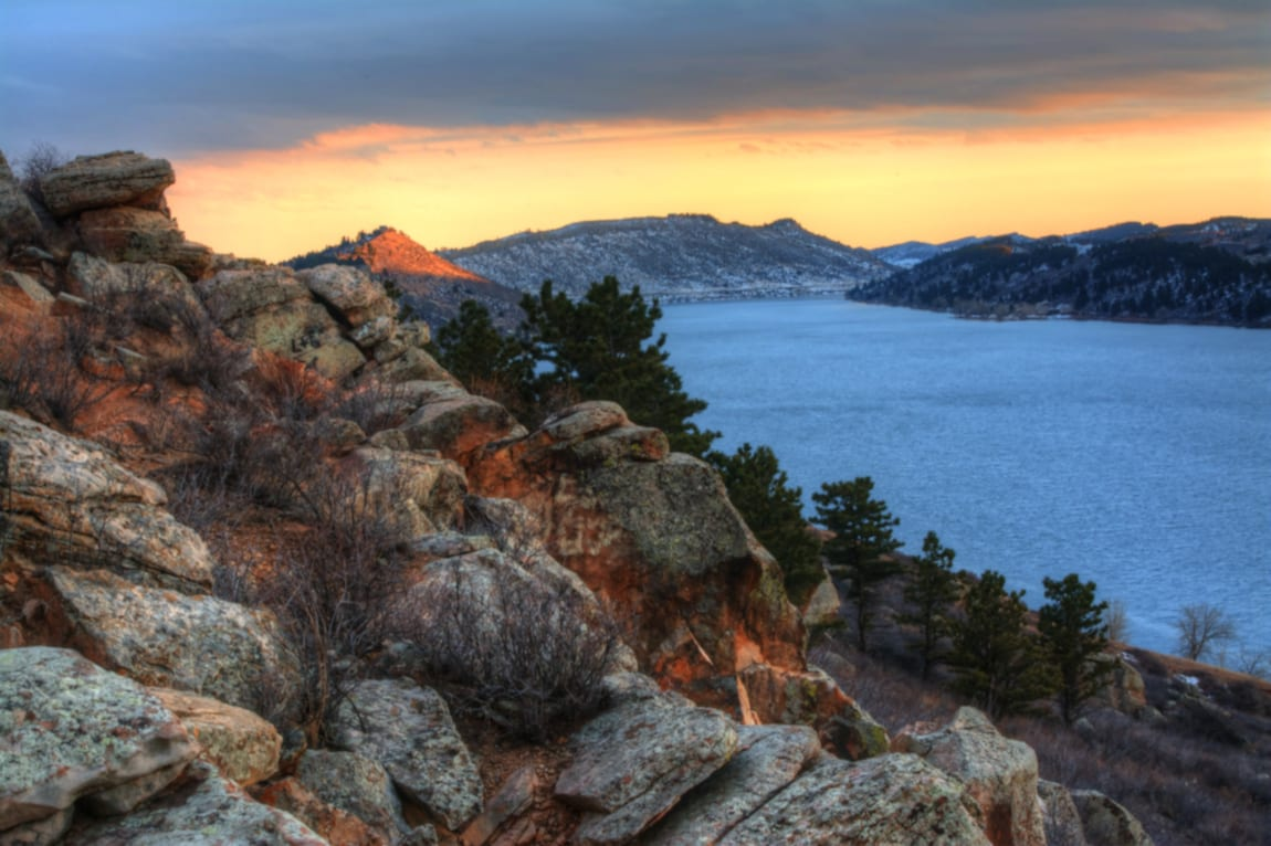Horsetooth Reservoir Sunset Fort Collins CO
