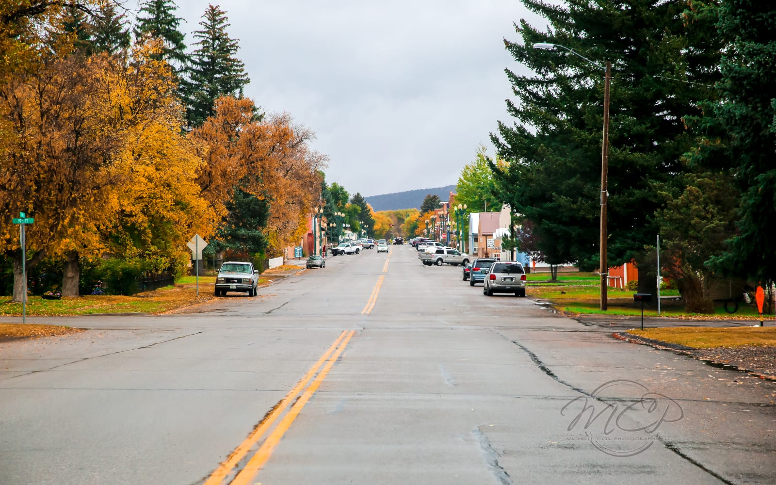 Meeker CO Downtown Autumn