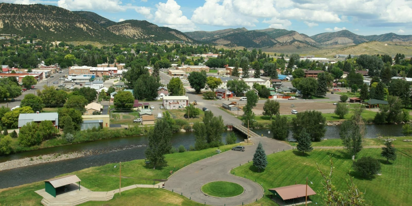 Meeker CO Summer Aerial Photo