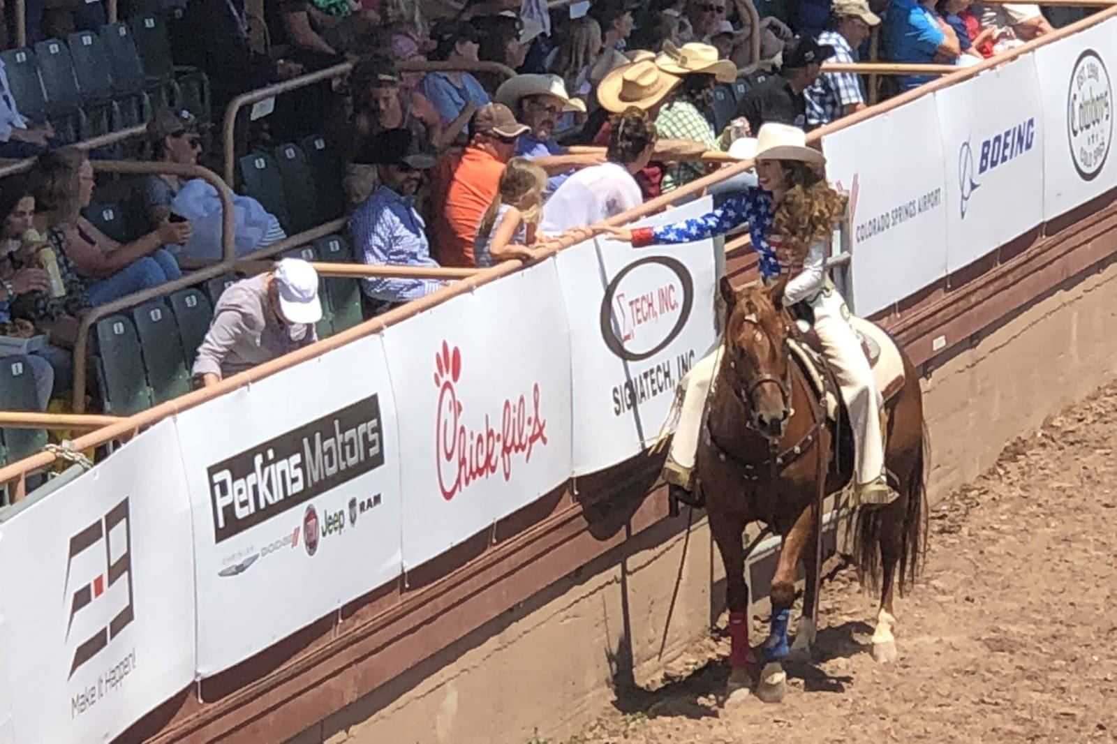 Pikes Peak Or Bust Rodeo Colorado Springs Cowgirl