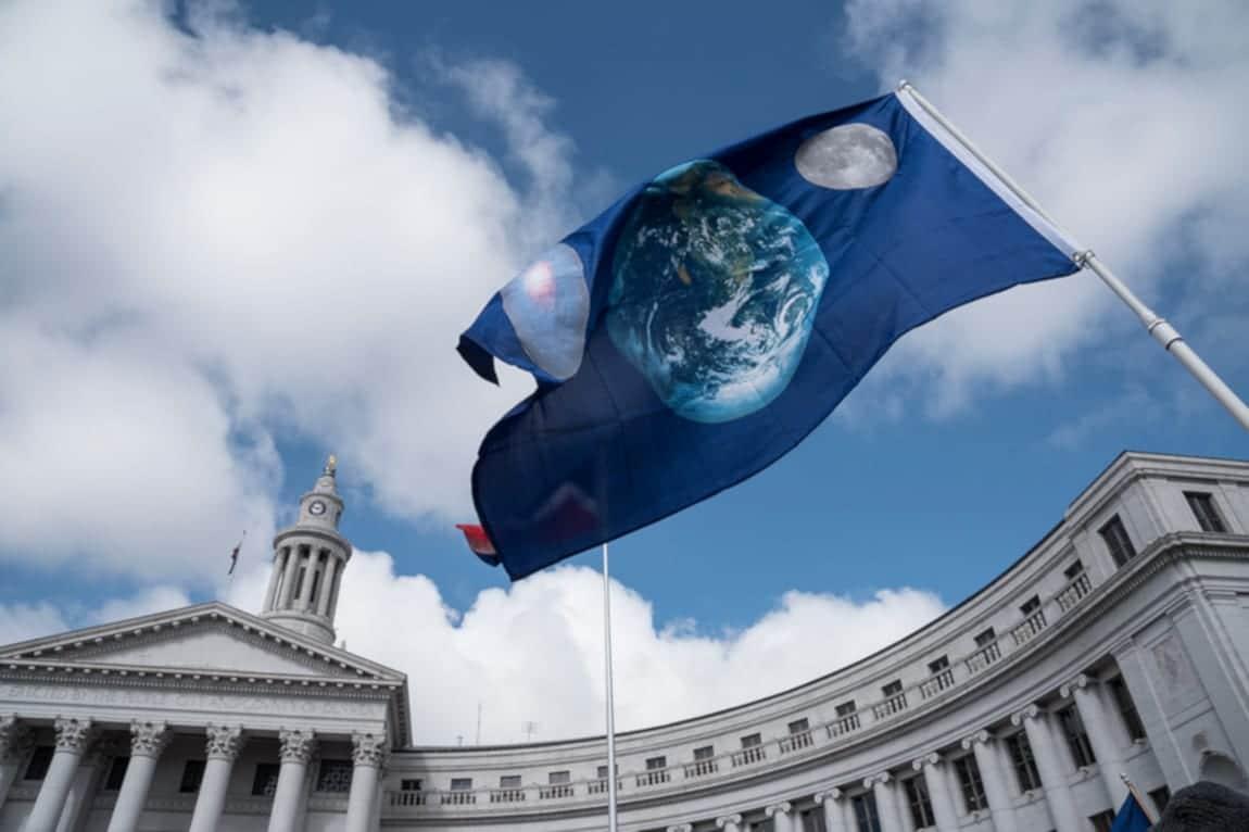 Public Records Colorado Civic Center City and County Building Earth Flag