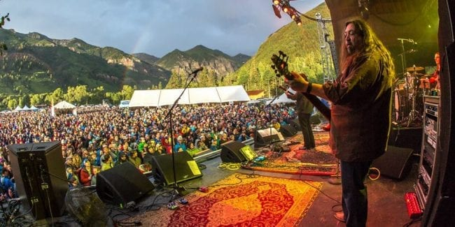 The RIDE Festival Telluride CO Music Stage