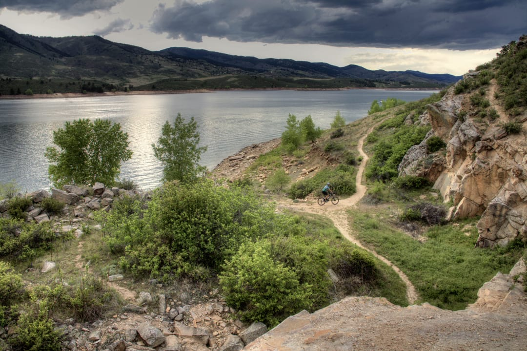 Hiking Fort Collins CO Horsetooth Reservoir Bike Trail