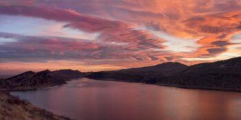 Hiking Fort Collins CO Sunrise Horsetooth Reservoir