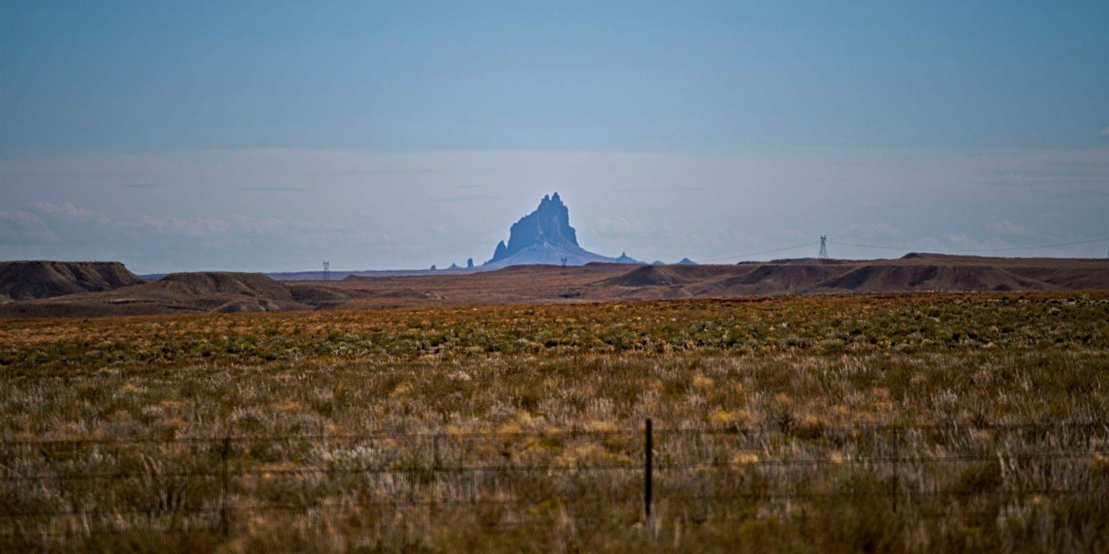 Towaoc Colorado View of Shiprock Mountain NM