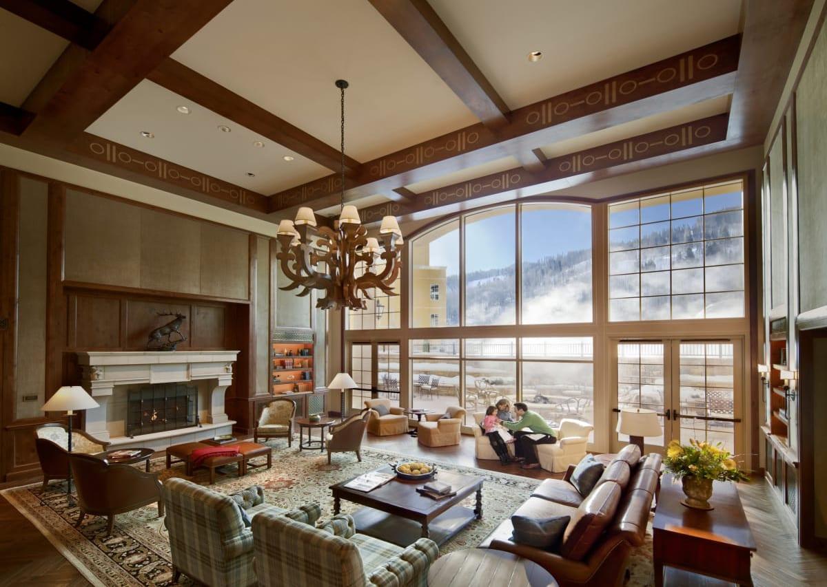 Vail Luxury Hotel Ritz Carlton Lobby