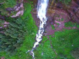 Bear Creek Falls Telluride Aerial View