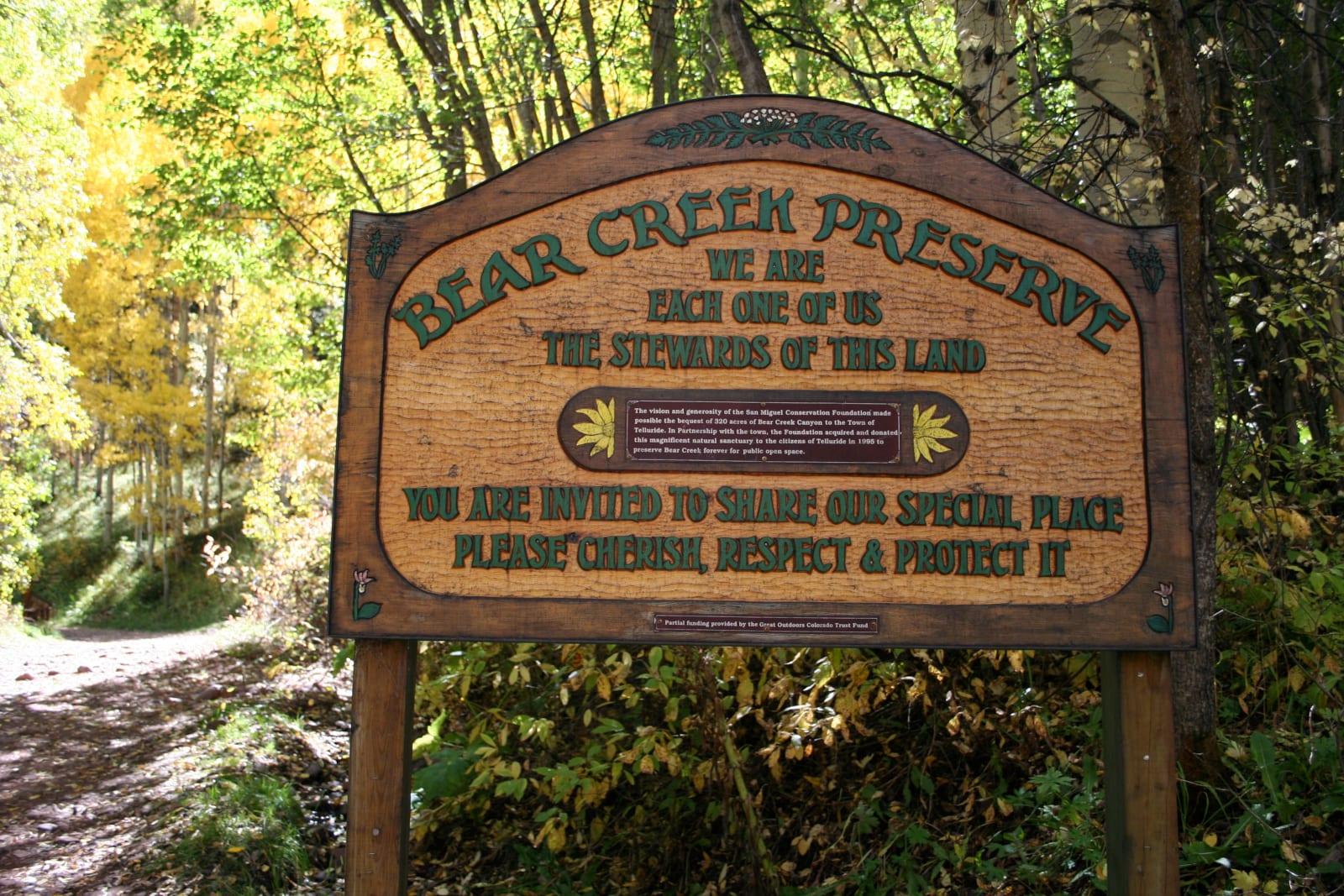 Bear Creek Preserve Telluride Colorado