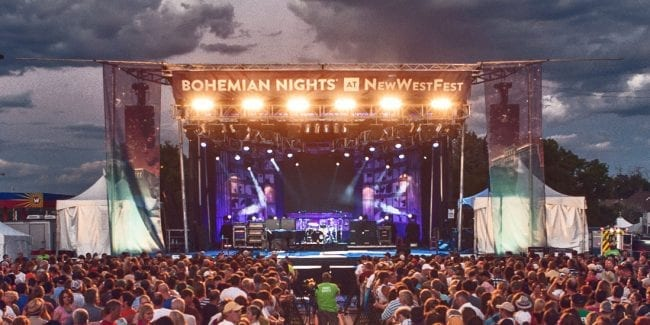 Bohemian Nights at NewWestFest Fort Collins Concert Stage
