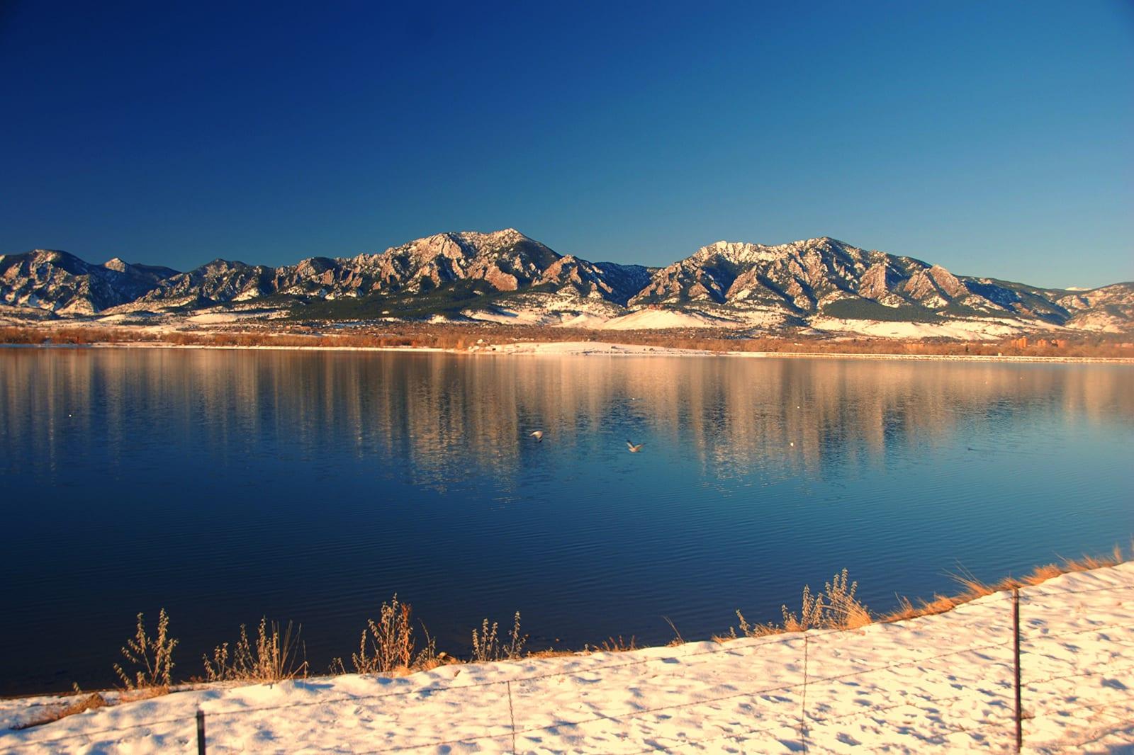 Boulder Reservoir Colorado Snow